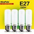 Nicefoto 150 W Flash de Estudio de iluminación bombilla E27 Lámpara de Modelado de montaje 220 v 4in1 set para fotografía softbox luz Estroboscópica