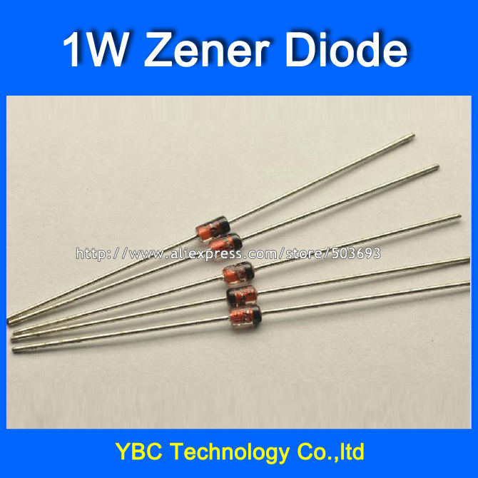 1000pcs/lot 1W <font><b>1N4727</b></font> IN4727~1N4756 IN4756 3V~47V Zener Diode 29values for Your Choice image