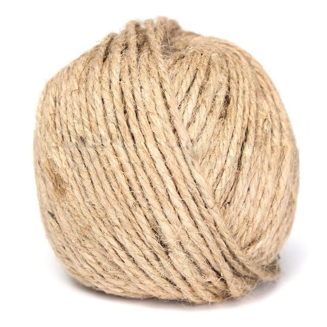 3 mm de espesor 50 m marrn rstico arpillera de yute guita cuerda cuerda accesoria hecha - Cuerda De Yute