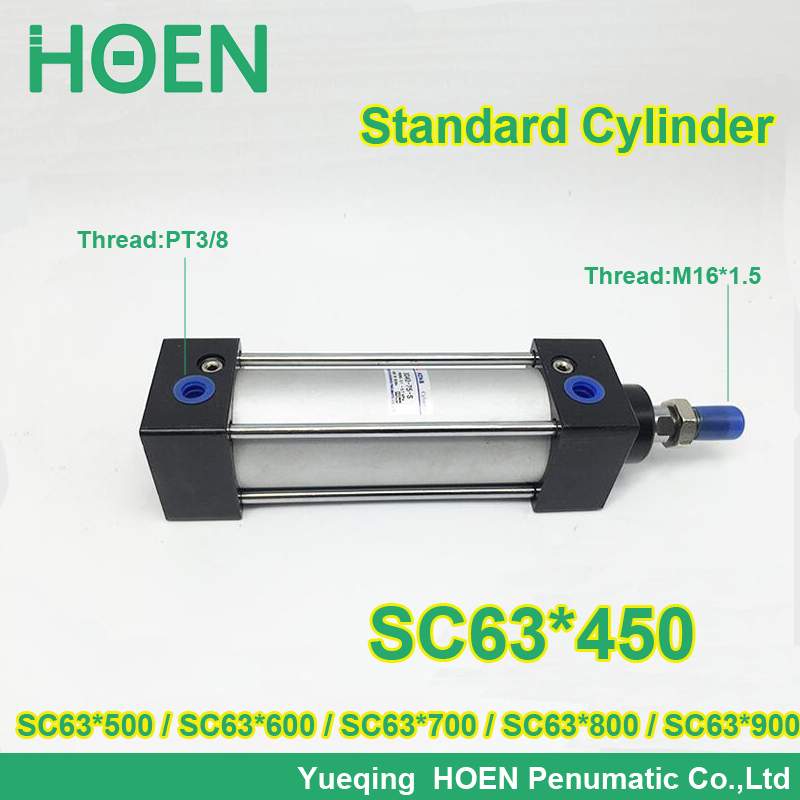 SC63*450 63mm bore stroke SC63x500 standard single rod double action pneumatic cylinder SC SU series SC63*600 SC63*700 SC63*800 sc63 400 s 63mm bore 400mm stroke sc63x400 s sc series single rod standard pneumatic air cylinder sc63 400 s