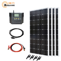Boguang 400 Вт солнечной системы комплект 4*100 Вт солнечной панели монокристаллический кремний фотоэлектрические ячейки модуль PMW 40A контроллер