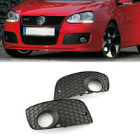 Pair Front Bumper Honey Comb Fog Light Cover Grill for VW Jetta MK5 GTI 06 09