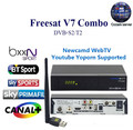 Freesat V7 Combo DVB-S2 DVB-T2 Receptor with 1Year Europe cccam Cline Satellite Receiver Support PowerVu Biss KeyNewcam