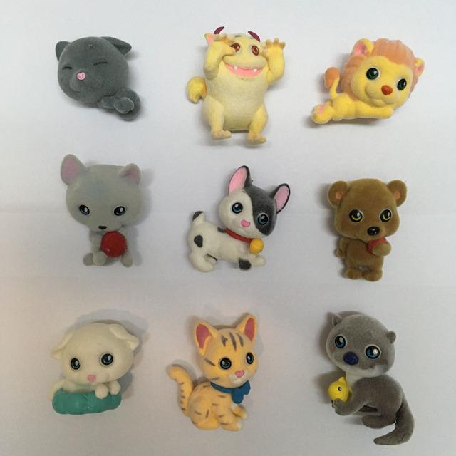 30 pçs/set Reunindo Aminal Boneca Do Gato Do Cão Monstro Figura de Ação Brinquedos de Crianças Casa de Boneca