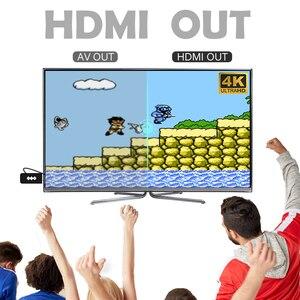 Image 4 - RETROMAX HDMI 4K Video Spiel Konsole Zwei Spieler Bauen in 568 Retro Klassische Spiele Wirless Controller HDMI Ausgang