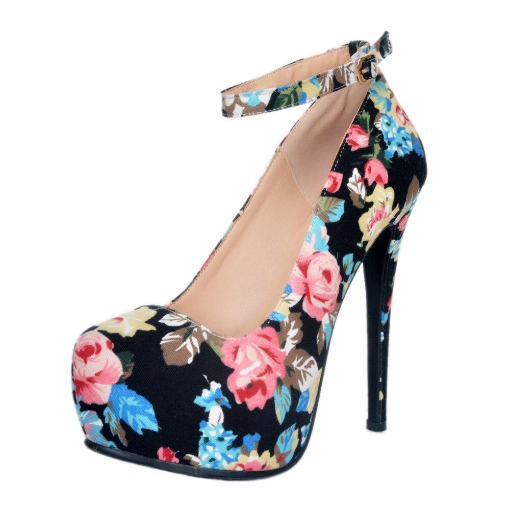 Original Intention Gorgeous Women Pumps Platform Round Toe Thin High Heels Pumps Multi Colors Shoes Woman