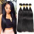 Mink Peruvian Virgin Hair Straight 4 Bundles Peruvian Straight Virgin Hair 7A Unprocessed Human Hair Peruvian Hair Weave Bundles