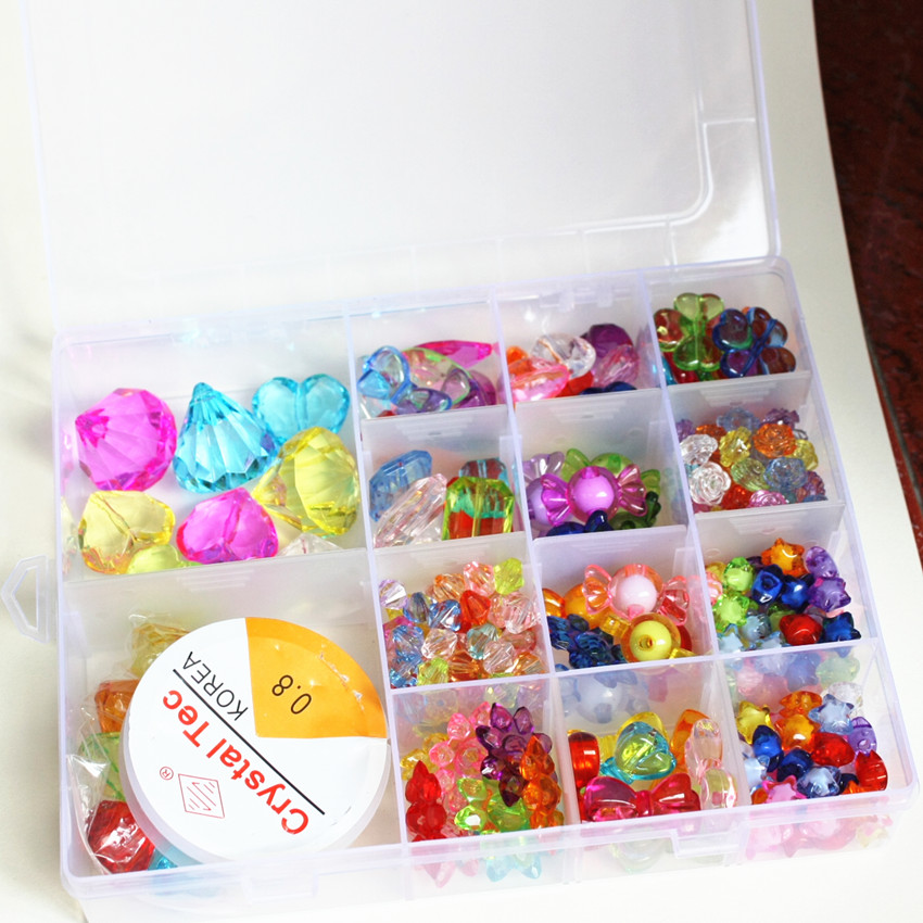 Children's Plastic Toys Play House Gem Beaded Pirate Treasure Hunt Game Plastic Diamond Set