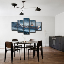 Canvas Painting Wall Art Home Decor For Living Room HD Prints 5 Pieces Sea War Poster Pictures Abooly