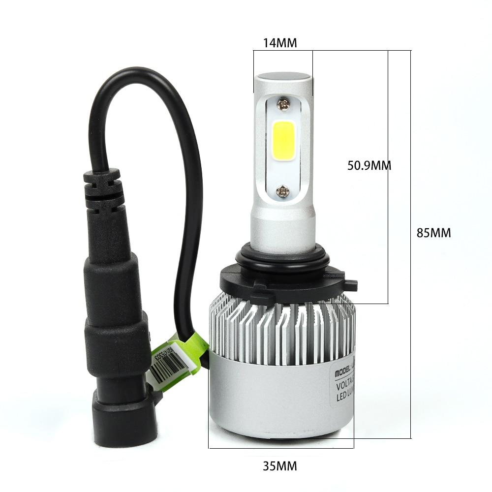 Auto styling Auto H4 led lamp H7 Verlichting Auto LED 12 V Lichten ...