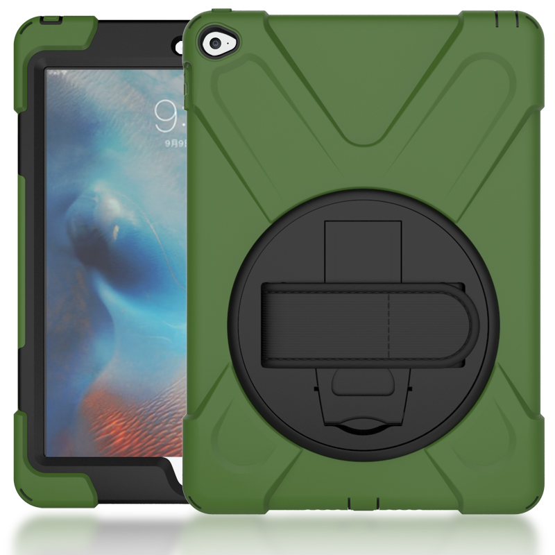 For ipad pro 9.7 case 360 rotation Heavy Duty PC Silicon Shockproof Stand Armor Cases, Kids Safe Case for ipad pro 9.7inch