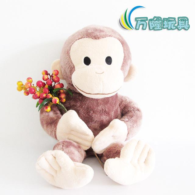 25 CM Curious George juguetes de felpa muñeca de peluche mono George