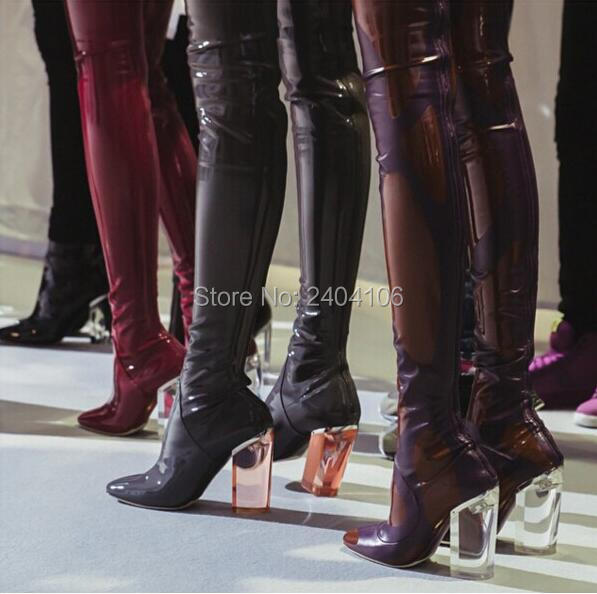 Popular Thigh High Boots Pvc-Buy Cheap Thigh High Boots Pvc lots ...