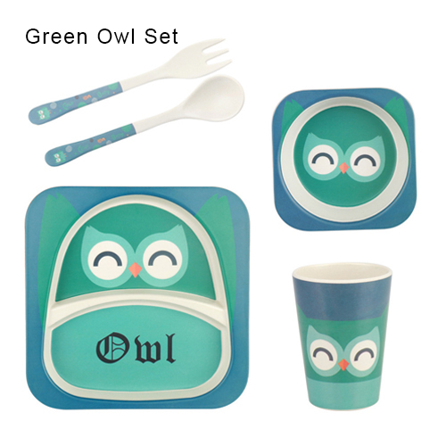 Green Owl Set