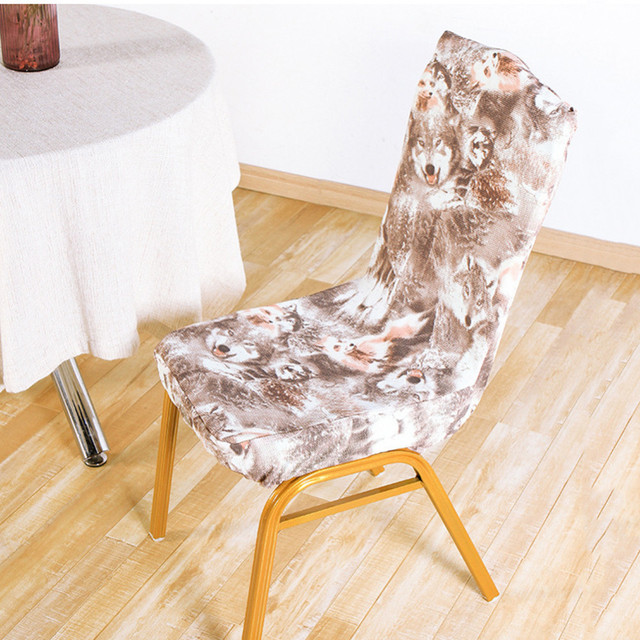 1pc elastic polyester banquet chair cover color printed wedding