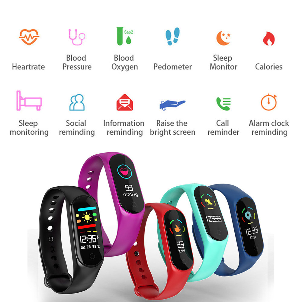 2018 UPgraded Sports Blood Pressure Oxygen Heart Rate Fitness Smart Watch Band