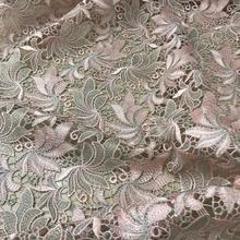 Latest African French Embroidery Net Lace Fabric JIANXI.C-63405 For bridal dress