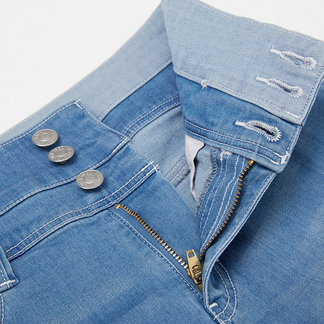 High-Waist Jean Button Zipper Women's Denim Shorts Scratched Pocket Design Shorts Femme Short Mujer Pantalones Cortos Mujer 6