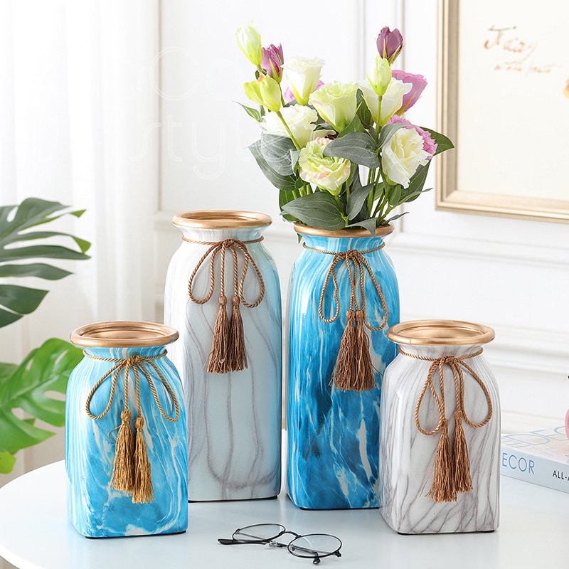 Cocostyles ins fashion modern nordic marble flower vase for creative wedding centerpieces elegant home goods decoration