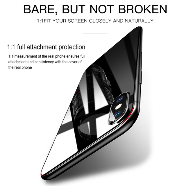 Baseus Front Back Glass Screen Protector For iPhone Xs Max Tempered Glass For iPhoneXs Max Protective Glass Toughened Film Cover