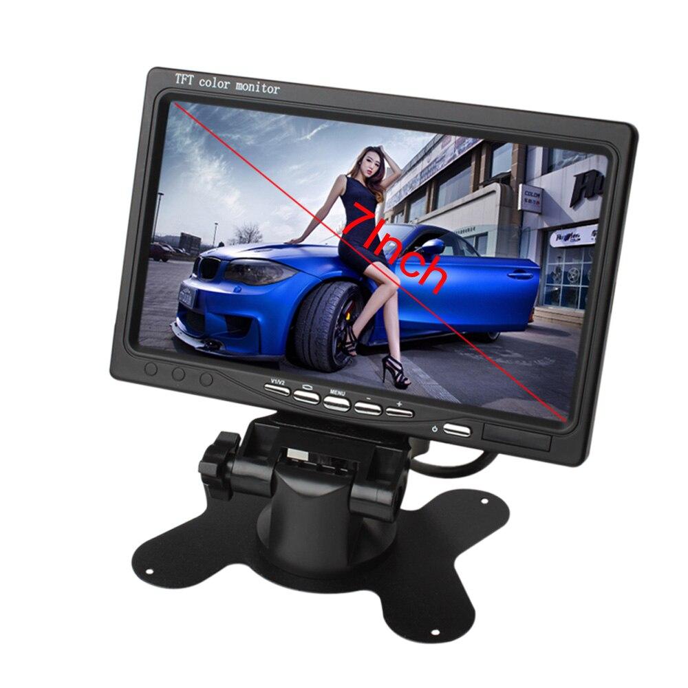 7 дюймов 2CH TFT цветной ЖК экран Автомобильная камера заднего вида монитор для камеры заднего вида Авто парковочный резервный обратный подгол