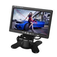 7 Cal 2CH TFT kolorowy ekran lcd tylna kamera samochodowa Monitor do widoku z tyłu kamera Auto Parking Backup rewers zagłówek monitora