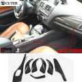 High quality F20 F21 Matt Carbon Fiber Auto Car interior dashboard decoration trim for BMW F20 F21 2012-2015 7PCS/SET