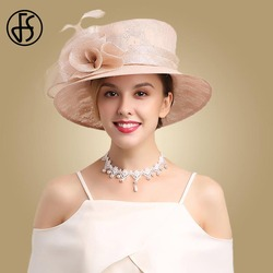 Женские вечерние вуалетки FS, розовые цветы, Кентукки шляпа котелок, для церкви и торжественных случаев
