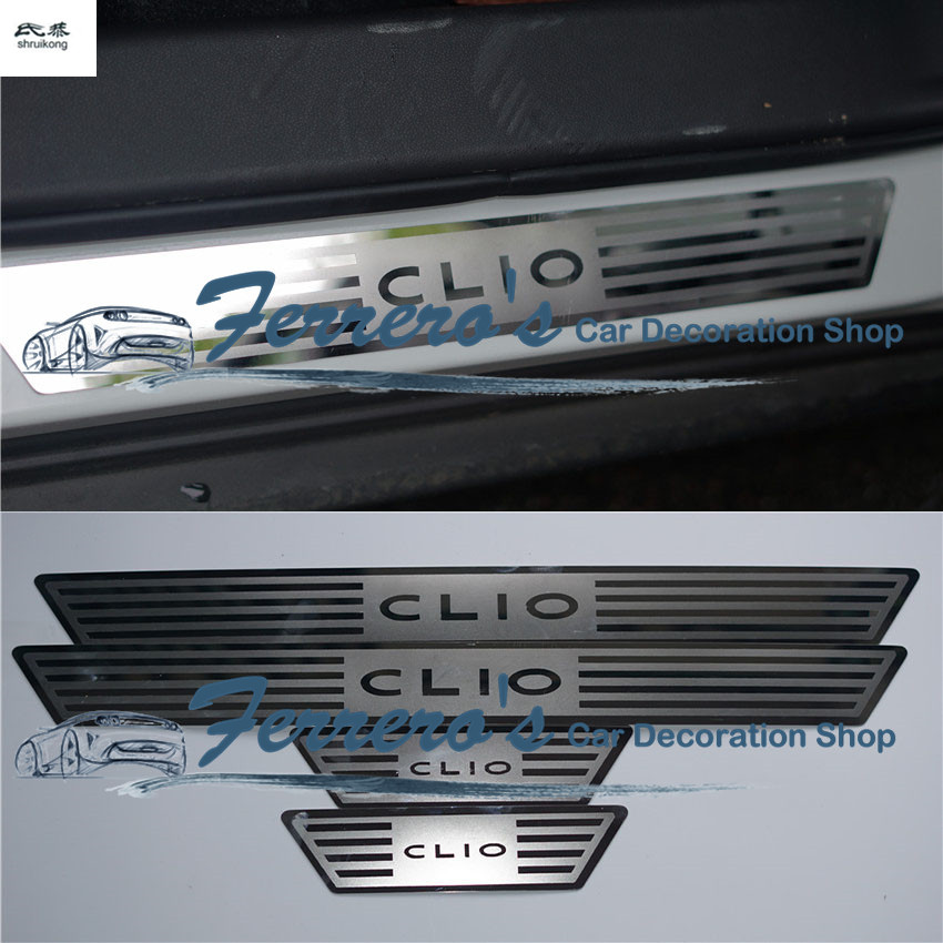 for 2014 2015 2016 Renault CLIO IV CLIO 4 car styling sticker 4pcs lot Stainless Steel