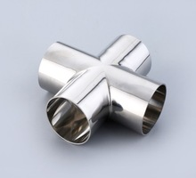2PCS/LOT 32X1.5MM 304 Stainless Steel Sanitary Elbow Pipe Fittings Food Grade Four Pass