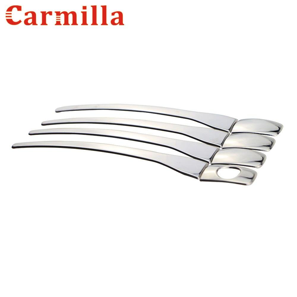 Carmilla Stainless Steel Car Door Handle Cover Sticker For Peugeot 301 208 2008 3008 408 308 for Citroen C-QUATRE C4L Parts
