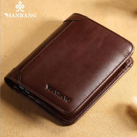 Manbang Genuine Leather Men S Wallet 2017 New Fashion First Layer Cowskin Casual Solid Large Capacity