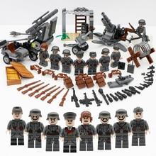 Military Figure Swat Team Army Germany soldiers Weapons German guns Mini ww2 modern Building Blocks Compatible Legoed Bricks Toy