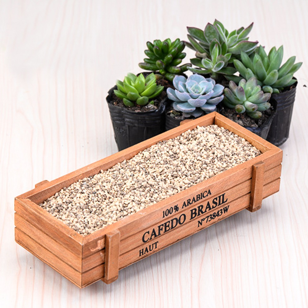 Fashion Wood Flowerpot Garden Planter Succulent Flower Plant Pot Bed Pot Flower Pots & Planters Garden Supplies