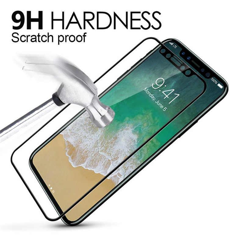 3D פרימיום מזג זכוכית עבור iPhone x 5.8 אינץ מקרה מלא כיסוי מסך מגן זכוכית עבור iPhone xr xs מקסימום גלאס סרט על iphon x