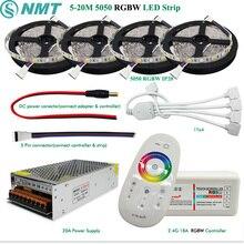DC12V Led Strip Light 5050 SMD RGBW RGBWW Waterproof / Non Waterproof  + 2.4G RF Controller + Power adapter Kit 5M 10M 15M 20M