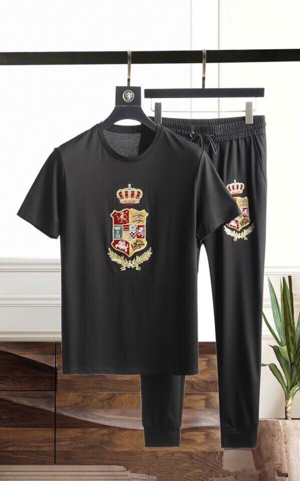 MBH05528 mode hommes ensembles 2019 piste de luxe célèbre marque conception européenne fête style vêtements pour hommes