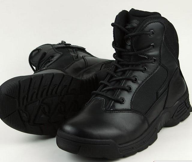 3d1112c9770 Soldado botas 100% botas de cuero genuino para hombre de cuero botas ...