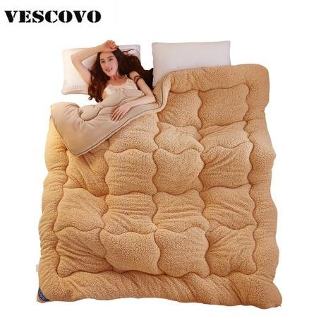 Winter Comforters Duvet Polyester Blanket Thick Wool Embossed Fiber Lamb Quilt