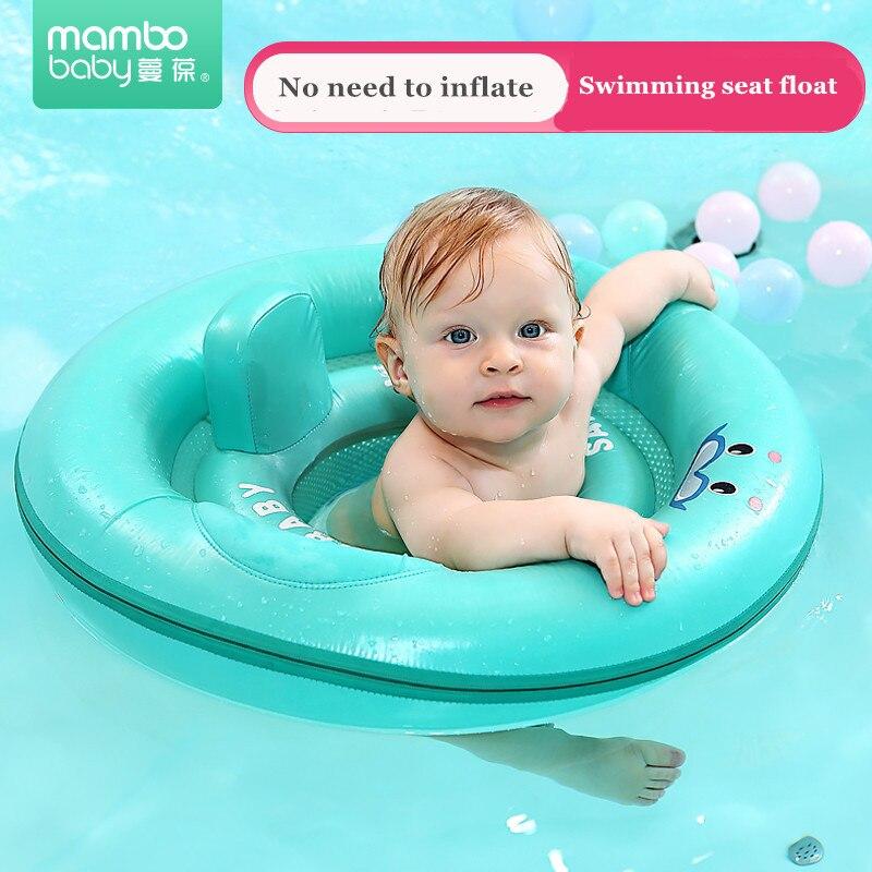Solide pas de cercle gonflable siège de sécurité flotteur bébé anneau de natation flottant piscine accessoires jouet baignoire piscine nager formateur