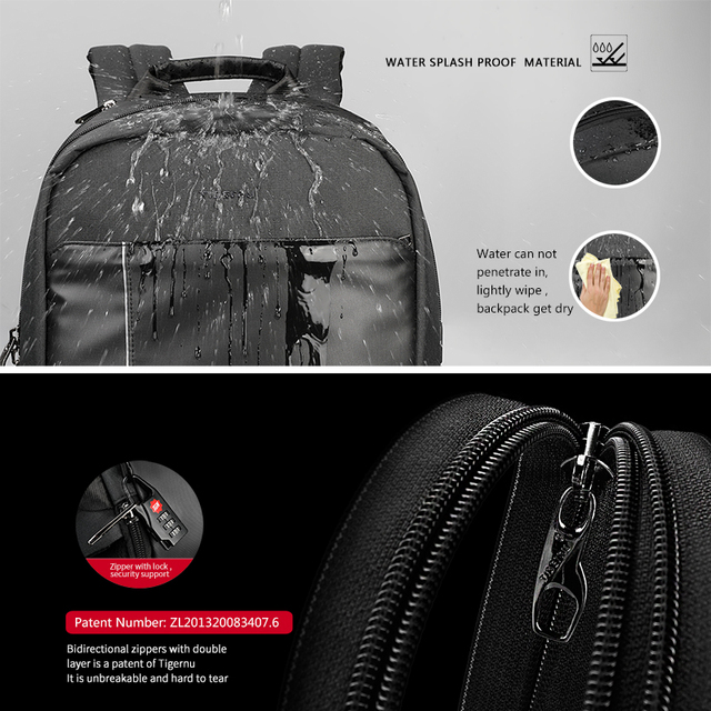 Tigernu Brand 15.6 laptop backpack men school bag backpacks for teens boys anti theft daily travel backpack for male women