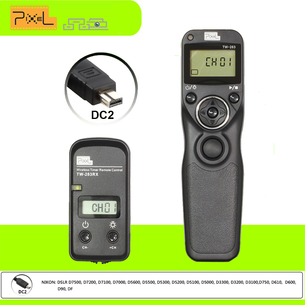 Prix pour Nouveau pixel tw-283 dc2 minuterie télécommande sans fil déclencheur pour nikon de d610, d7000, D5000, D3300, D90, D750 D7200 D5500