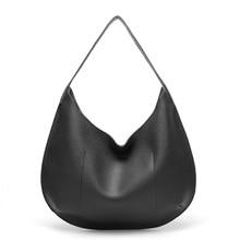 цены на HANQING Popular Retro PU Leather Handbag women big Shoulder bag fashion Lady half moon Casual Tote Female Elegant crossbody bags  в интернет-магазинах