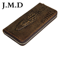 J.M.D 2018 NEW Fashion Larger Capacity 100% Real Genuine Leather Purse Wallet Crocodile Pattern Wallet 8067
