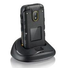 Мобильный Телефон IP68 Водонепроницаемый Dual Экран Flip старший мобильный ioutdoor F2 раскладушка русская клавиатура одним из ключевых вызовов