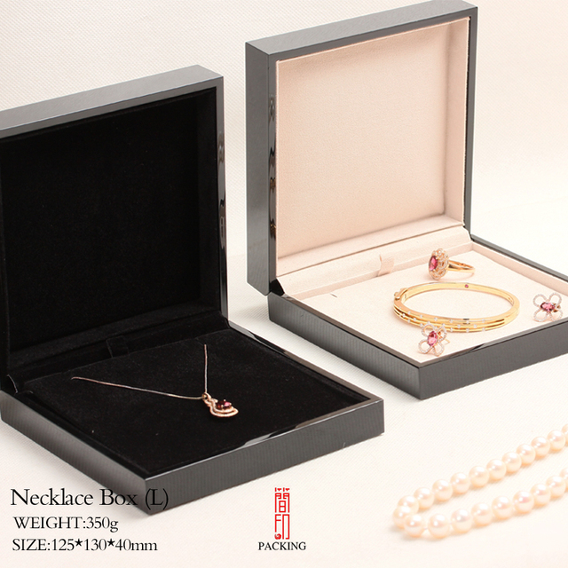 12513040mm black lacquer jewelry box necklace boxes Special for