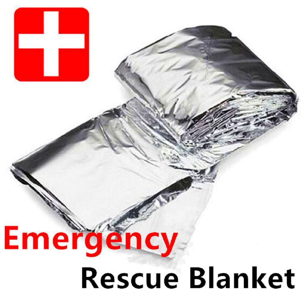 2pc Reusable Emergency Blanket Safety Survival Insulating Thermal Heat Blanket
