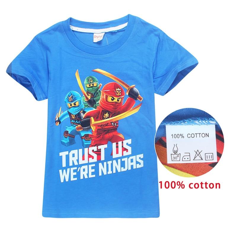 2018 Summer Ninja Children's Clothing Baby Boys Girls T-shirt Cartoon 100% Cotton T-shirt Ninjagoed Kids Tops Tees T Shirts 3-9y
