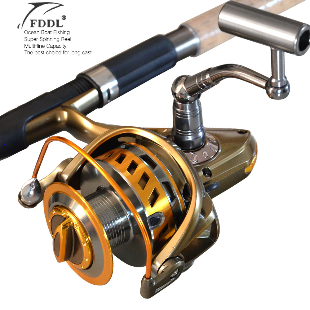 8000/9000Big size full metal spool Jigging trolling long shot casting for carp and salt water surf spinning big sea fishing reel 1 65m 1 8m high carbon jigging rod 150 250g boat trolling fishing rod big game rods full metal reel seat sic guides eva handle