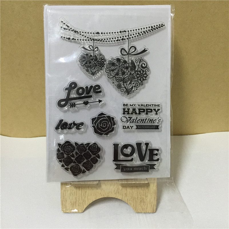 scrapbooking diy photo cards about love letter and loving heart silicon stamps transparent stamp for christmas gift tm 107